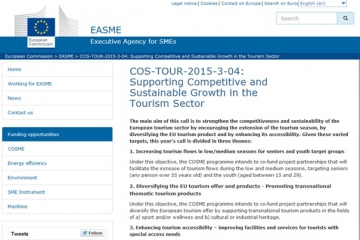 COS-TOUR-2015-3-04: Supporting Competitive and Sustainable Growth in the Tourism Sector